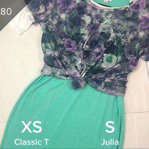 Lularoe Classic Tee & Julia Dress Outfit NEW